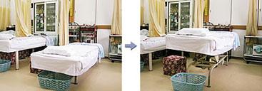 ゆったりベッドでゆったりする治療